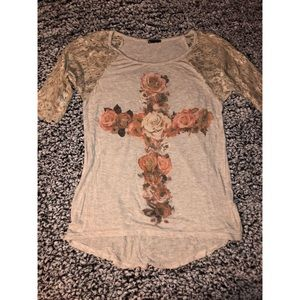 Floral & Lace T-shirt